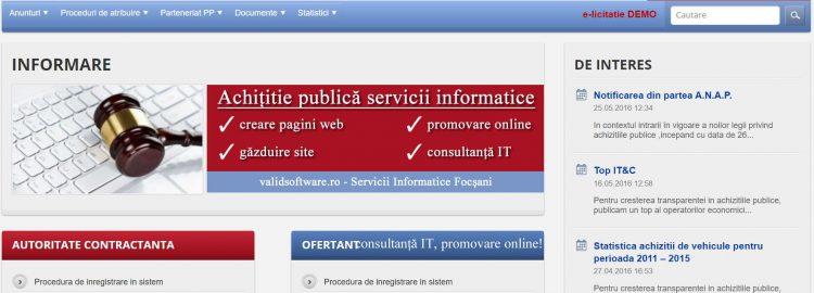 Achiziții publice servicii informatice prin SEAP