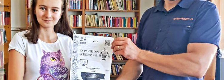 Donație 7 calculatoare pentru bibliotecile din Vidra și Măicănești, Vrancea