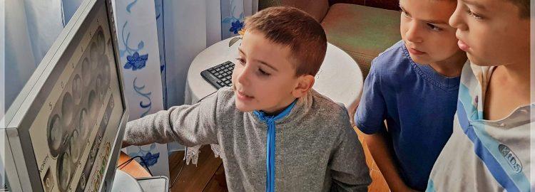 Donație calculator în Ciușlea, Vrancea