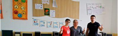 Donație 10 calculatoare la Școala Tâmboiești din Vrancea