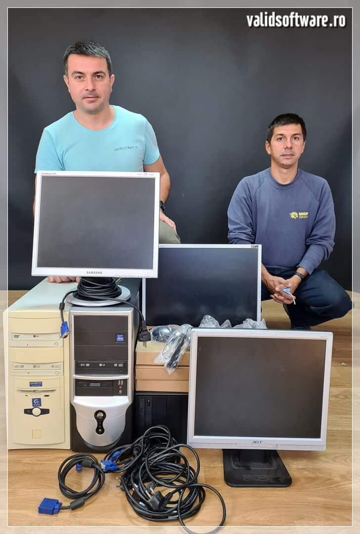 Donație 4 calculatoare în Focșani - Vrancea